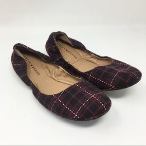 Lucky Brand | Plaid Round Toe Ballet Flats
